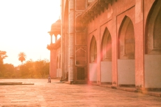 ​A sunset spent at the Tomb of Akbar the Great in Agra, India.